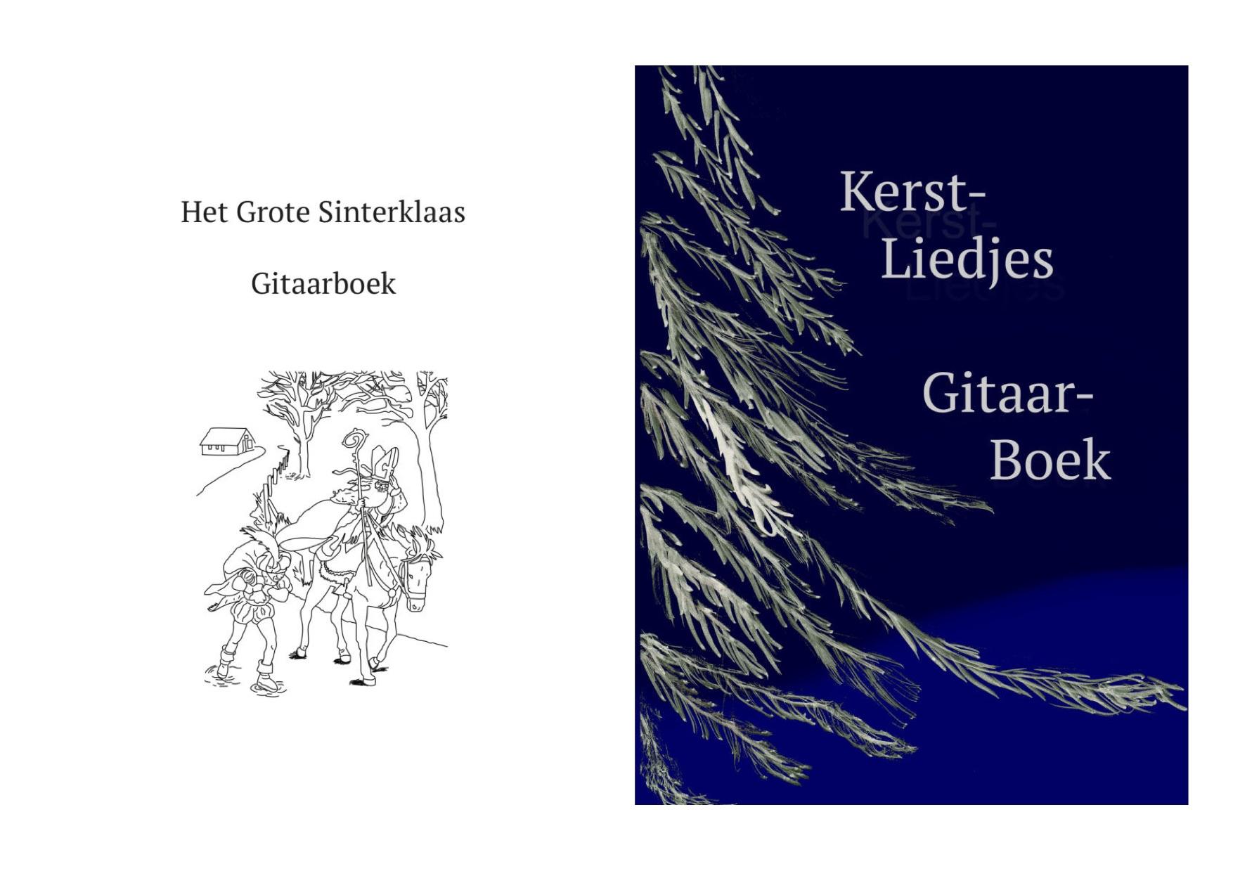 Duo-koop Sinterklaas- en kerstliedjes gitaarboeken €28