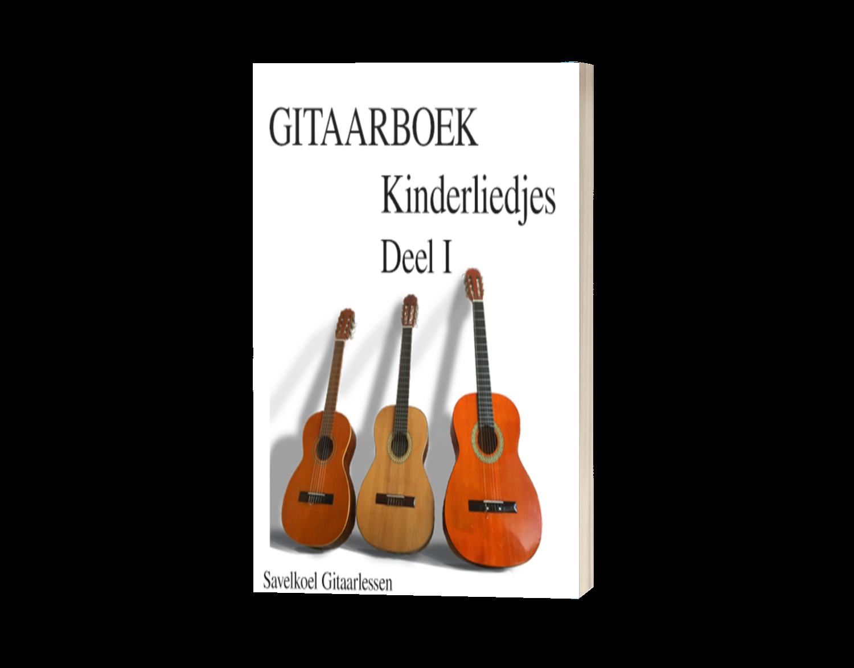 Kinderliedjes gitaarboek deel 1 e-book   € 9,95